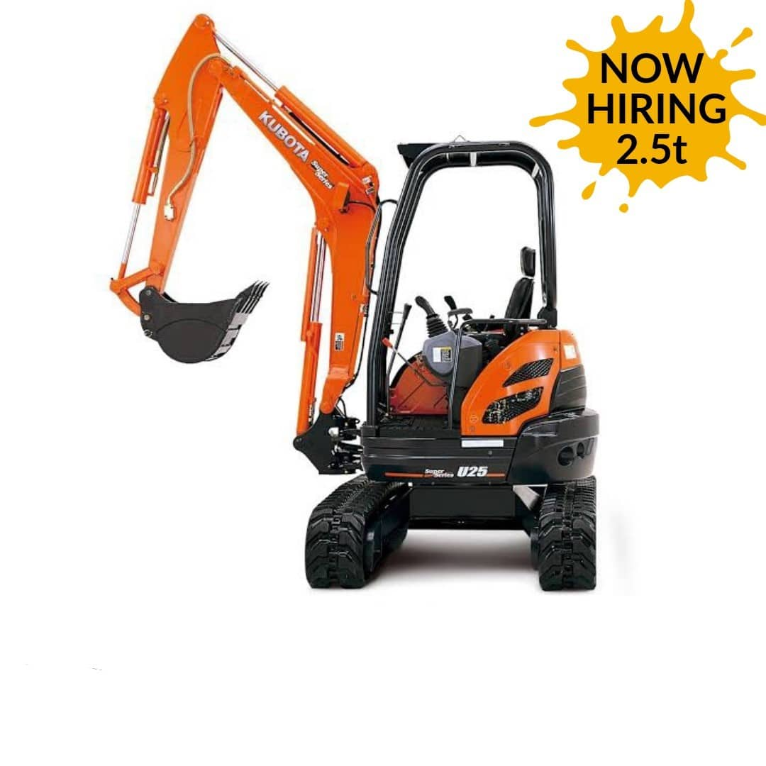 2.5t excavator hire 1
